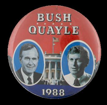 Bush Quayle 1988 Political Busy Beaver Button Museum