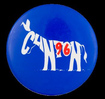 Clinton 96 Donkey Political Button Museum