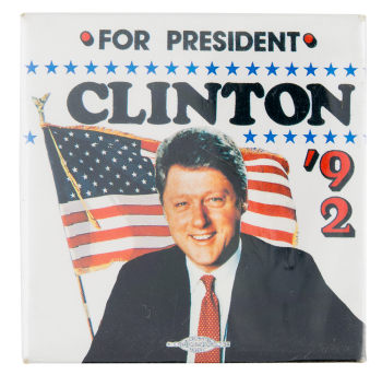 Clinton for President '92 Political Button Museum