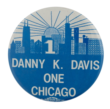 Danny Davis Chicago Political Busy Beaver Button Museum