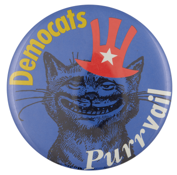 Democats Purrvail Political Busy Beaver Button Museum
