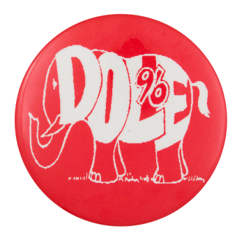 Dole 96 Elephant Political Button Museum