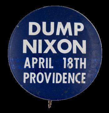 Dump Nixon Political Busy Beaver Button Museum