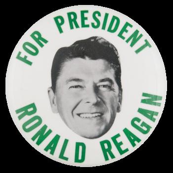 For President Ronald Reagan Political Button Museum