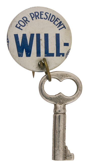 Will-Key For President Political Button Museum