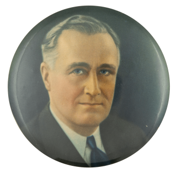 Franklin D Roosevelt Small Color Portrait Political Button Museum