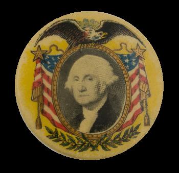 George Washington 2 Political Busy Beaver Button Museum