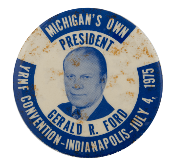 Gerald Ford Convention Political Busy Beaver Button Museum