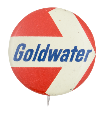 Goldwater Arrow Political Button Museum