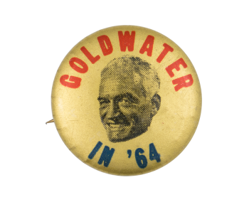 Goldwater in '64 Gold Political Button Museum