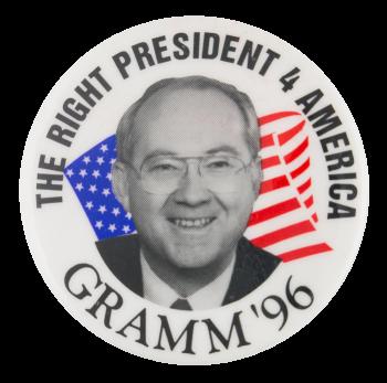 Gramm '96 Political Button Museum