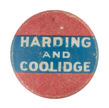 Harding and Coolidge Political Button Museum