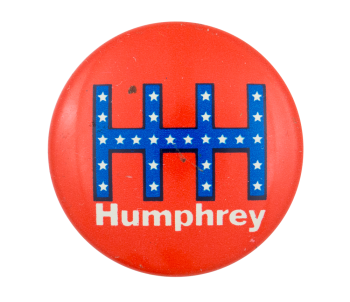 HHH Humphrey Red Political Button Museum