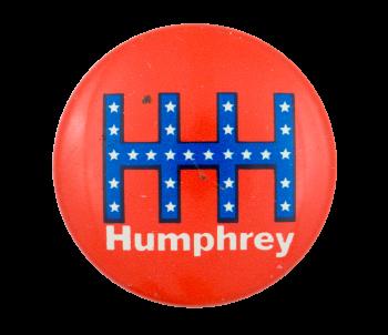 HHH Humphrey Red Political Button Museum