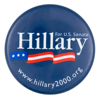 Hillary for U.S. Senate Political Button Museum