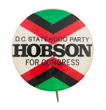 Hobson for Congress Political Button Museum
