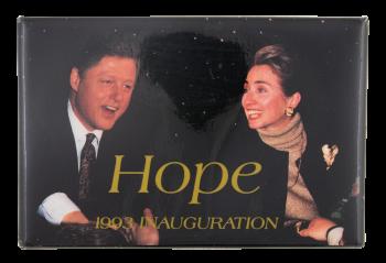 Clinton Hope 1993 Inauguration Political Button Museum