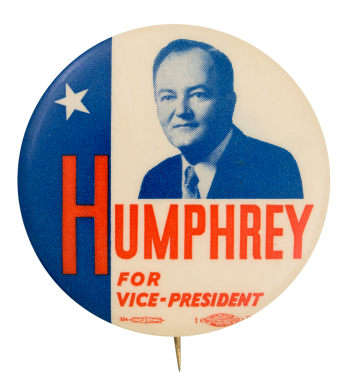 Humphrey for Vice President Political Button Museum