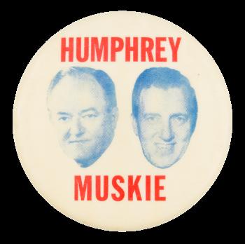 Humphrey Muskie Heads Political Button Museum