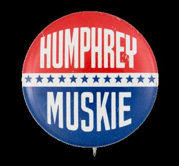 Humphrey Muskie Stars Political Button Museum