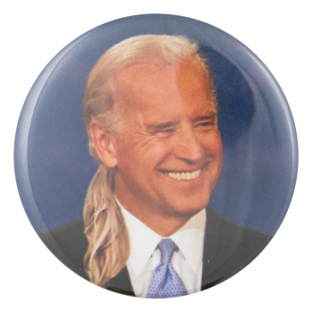 Joe Biden Long Hair Political Button Museum