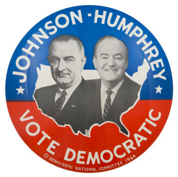 Johnson Humphrey 1964 Political Button Museum
