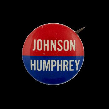 Johnson Humphrey Political Busy Beaver Button Museum