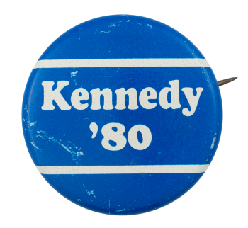Kennedy 1980 with Stripes Political Button Museum