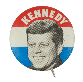 Kennedy Red White and Blue Political Button Museum