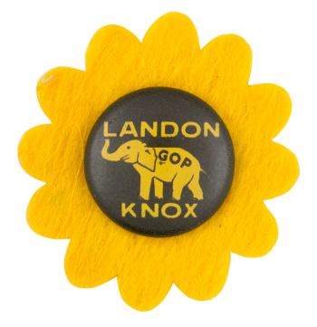 Landon Knox Elephant Political Button Museum