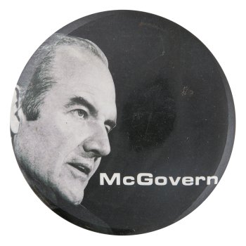 McGovern Black and White Political Button Museum