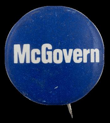 McGovern Blue Political Busy Beaver Button Museum