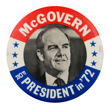 McGovern for President with Stars Political Button Museum