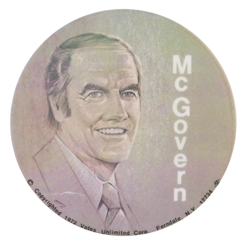 McGovern Portrait Political Button Museum
