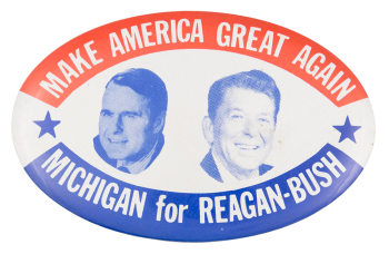Michigan for Reagan-Bush Political Button Museum