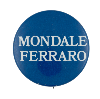 Mondale Ferraro Blue Political Busy Beaver Button Museum
