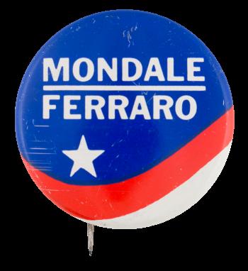Mondale Ferraro Star and Stripes Political Button Museum