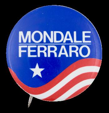 Mondale Ferraro Star Political Button Museum
