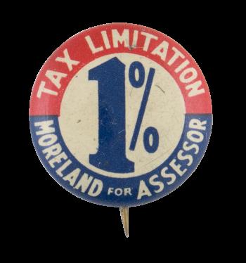 Moreland for Assessor Political Button Museum