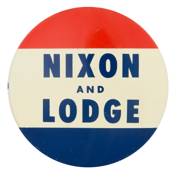 Nixon and Lodge Political Button Museum
