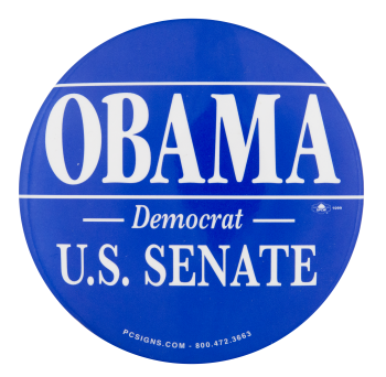 Obama U.S. Senate Political Button Museum