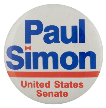 Paul Simon United States Senate Political Busy Beaver Button Museum