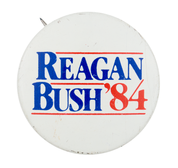 Reagan Bush '84 Political Button Museum