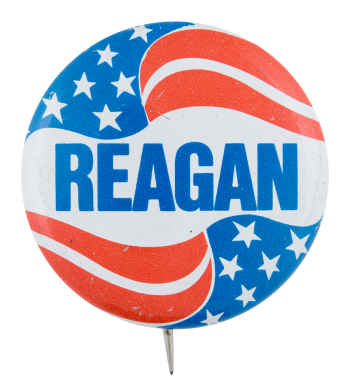 Reagan Flag Political Button Museum