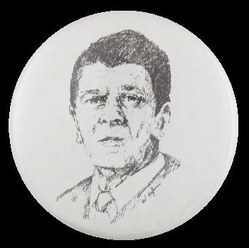 Reagan Illustration Political Button Museum