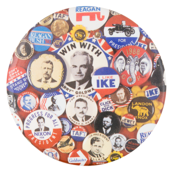 Republican Presidential Campaign Buttons Self Referential Button Museum