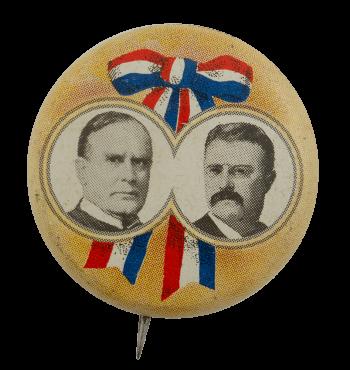 Ribbon Portrait Political Busy Beaver Button Museum