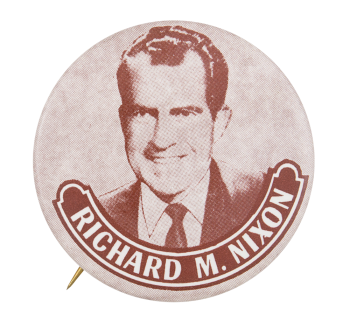 Richard M. Nixon Sepia Political Button Museum