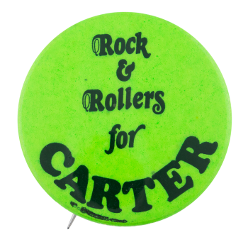 Rock & Rollers for Carter Political Button Museum
