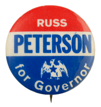 Russ Peterson for Governor Political Busy Beaver Button Museum